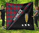 ScottishShop Auchinleck Premium Quilt - Auchinleck Clan Cross Style - aC