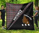 ScottishShop Borthwick Premium Quilt - Borthwick Clan Cross Style - aC