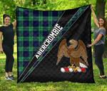 ScottishShop Abercrombie Premium Quilt - Abercrombie Clan Cross Style - aC
