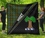 ScottishShop Bisset Premium Quilt - Bisset Clan Cross Style - aC