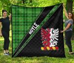 ScottishShop Boyle Premium Quilt - Boyle Clan Cross Style - aC