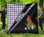 ScottishShop Boswell Premium Quilt - Boswell Clan Cross Style - aC