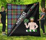 ScottishShop Aikenhead Premium Quilt - Aikenhead Clan Cross Style - aC