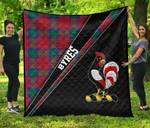 ScottishShop Byres Premium Quilt - Byres Clan Cross Style - aC