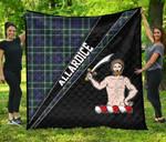 ScottishShop Allardice Premium Quilt - Allardice Clan Cross Style - aC