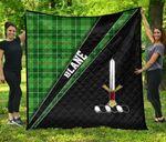 ScottishShop Blane Premium Quilt - Blane Clan Cross Style - aC