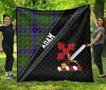 ScottishShop Adam Premium Quilt - Adam Clan Cross Style - aC