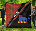 ScottishShop Bruce Premium Quilt - Bruce Clan Cross Style - aC