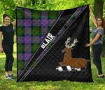 ScottishShop Blair Premium Quilt - Blair Clan Cross Style - aC