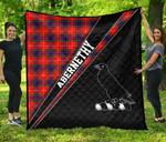 ScottishShop Abernethy Premium Quilt - Abernethy Clan Cross Style - aC