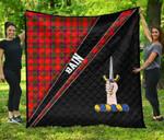 ScottishShop Bain Premium Quilt - Bain Clan Cross Style - aC