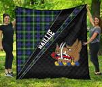 ScottishShop Baillie Premium Quilt - Baillie Clan Cross Style - aC