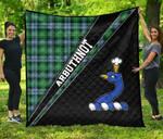 ScottishShop Arbuthnot Premium Quilt - Arbuthnot Clan Cross Style - aC