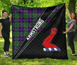 ScottishShop Armstrong Premium Quilt - Armstrong Clan Cross Style - aC