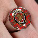 ScottishShop Binning - Crest Tartan Ring