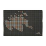 ScottishShop Tartan Tablecloth - Fergusson Weathered Tartan Map