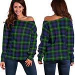 TartanClans Mackenzie Modern  Women's Off Shoulder Sweater