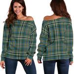 TartanClans Scott Green Ancient  Women's Off Shoulder Sweater