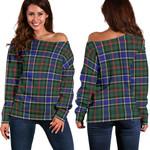 TartanClans Ogilvie Hunting Modern  Women's Off Shoulder Sweater