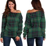 TartanClans Macaulay Hunting Ancient  Women's Off Shoulder Sweater