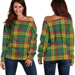 TartanClans Macmillan Old Ancient  Women's Off Shoulder Sweater