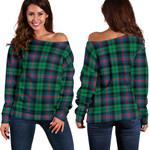 TartanClans Urquhart Broad Red Ancient  Women's Off Shoulder Sweater