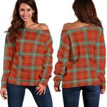 TartanClans Morrison Red Ancient  Women's Off Shoulder Sweater