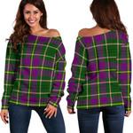 TartanClans Taylor  Women's Off Shoulder Sweater
