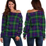 TartanClans Inglis Modern  Women's Off Shoulder Sweater