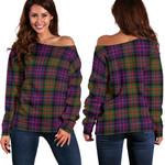 TartanClans Macdonald Modern  Women's Off Shoulder Sweater