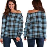 TartanClans Clark Ancient  Women's Off Shoulder Sweater