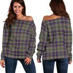 TartanClans Taylor Weathered  Women's Off Shoulder Sweater