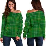 TartanClans Wexford County  Women's Off Shoulder Sweater