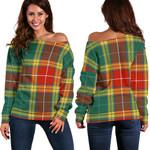 TartanClans Buchanan Old Sett  Women's Off Shoulder Sweater