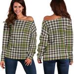 TartanClans Burns Check  Women's Off Shoulder Sweater
