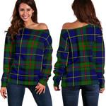 TartanClans Macleod Of Harris Modern  Women's Off Shoulder Sweater
