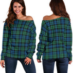 TartanClans Campbell Ancient 02  Women's Off Shoulder Sweater