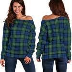 TartanClans Forbes Ancient  Women's Off Shoulder Sweater