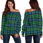 TartanClans Forsyth Ancient  Women's Off Shoulder Sweater