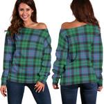 TartanClans Morrison Ancient  Women's Off Shoulder Sweater