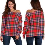 TartanClans Macfarlane Modern  Women's Off Shoulder Sweater