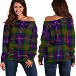 TartanClans Cameron Of Erracht Modern  Women's Off Shoulder Sweater
