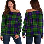TartanClans Forsyth Modern  Women's Off Shoulder Sweater