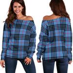 TartanClans Mackay Blue  Women's Off Shoulder Sweater