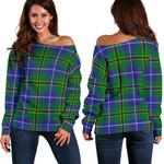 TartanClans Turnbull Hunting  Women's Off Shoulder Sweater