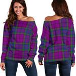 TartanClans Wardlaw Modern  Women's Off Shoulder Sweater