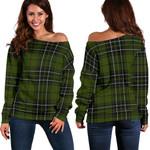 TartanClans Maclean Hunting  Women's Off Shoulder Sweater