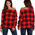 TartanClans Cunningham Modern  Women's Off Shoulder Sweater