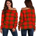 TartanClans Macquarrie Modern  Women's Off Shoulder Sweater