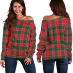 TartanClans Dalziel Modern  Women's Off Shoulder Sweater